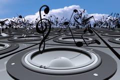 Bespreking over Muziek Stock Foto's