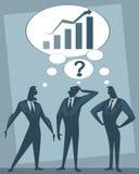 Bespreking van drie zakenlieden stock illustratie
