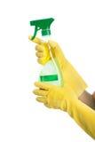 Bespuitende schonere vloeistof Stock Foto's