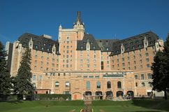 Bessborough Hotel. Saskatoon's most distinguished landmark hotel, is located in the heart of this historically rich city, on the South Saskatchewan River stock photography