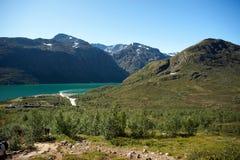 Besseggen Ридж в национальном парке Jotunheimen Стоковое Изображение