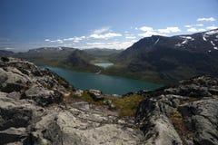 Besseggen Ридж в национальном парке Jotunheimen Стоковое Изображение RF