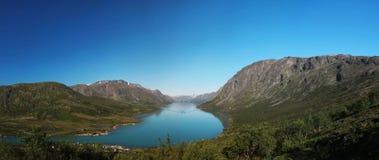 Besseggen e lago Gjende Imagem de Stock