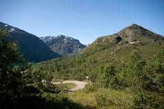 Besseggen grań w Jotunheimen parku narodowym Fotografia Stock