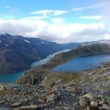 Besseggen Noorwegen Stock Foto's