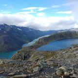 Besseggen Norvège Photos stock