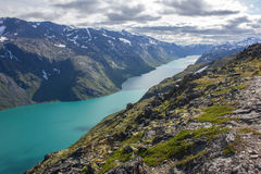 Besseggen in Norway. A hike up the Besseggen in Norway Stock Images