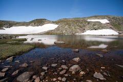 Besseggen Ridge en el parque nacional de Jotunheimen Fotos de archivo libres de regalías