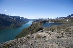 Besseggen Ridge en el parque nacional de Jotunheimen Imagen de archivo libre de regalías