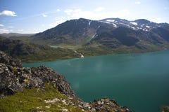 Besseggen Ridge en el parque nacional de Jotunheimen Foto de archivo libre de regalías
