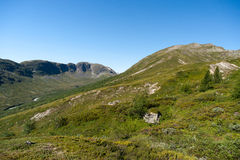 Besseggen Ridge en parc national de Jotunheimen Photo stock