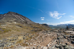 Besseggen Ridge en parc national de Jotunheimen Photographie stock libre de droits