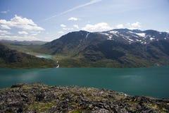 Besseggen Ridge en parc national de Jotunheimen Images stock