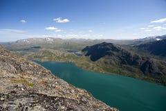 Besseggen Ridge en parc national de Jotunheimen Photo libre de droits