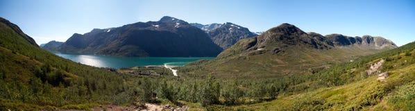 Besseggen Ridge i den Jotunheimen nationalparken Arkivbild