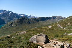 Besseggen Ridge in Jotunheimen National Park Royalty Free Stock Photo
