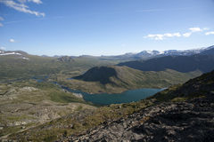 Besseggen Ridge in Jotunheimen National Park Royalty Free Stock Photography