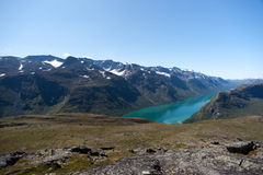 Besseggen Ridge nel parco nazionale di Jotunheimen Fotografia Stock