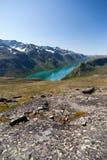 Besseggen Ridge nel parco nazionale di Jotunheimen Fotografie Stock