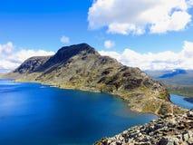 Besseggen Ridge no parque nacional de Jotunheimen Fotos de Stock Royalty Free