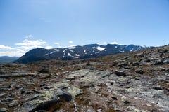 Besseggen Ridge no parque nacional de Jotunheimen Imagem de Stock