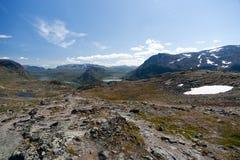 Besseggenrand in het Nationale Park van Jotunheimen Royalty-vrije Stock Fotografie