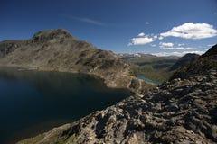 Besseggenrand in het Nationale Park van Jotunheimen Royalty-vrije Stock Foto's