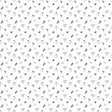 Bessen naadloze zwart-wit achtergrond Royalty-vrije Stock Foto
