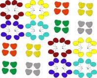 Bessen van verschillende kleuren stock foto