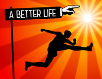 Bessere Lebensdauer lizenzfreie abbildung