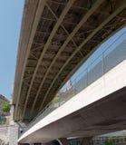 Bessières Bridge. Bessieres Bridge in Lausanne. Switzerland Royalty Free Stock Images