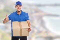 Beställning för ask för packejordlotthemsändning som levererar utrymme för kopia för jobbframgångcopyspace arkivbild