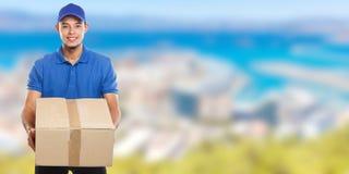 Beställning för packe för jordlotthemsändningask som levererar för manbaner för jobb ungt latinskt utrymme för kopia för copyspac arkivbilder