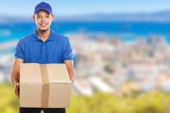 Beställning för packe för jordlotthemsändningask som levererar för mancopyspace för jobb ungt latinskt utrymme för kopia arkivfoto