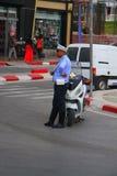 Beställning för polisTunisien sylt i staden av Sousse Royaltyfria Foton