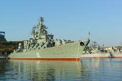 Beställningen av den Nakhimov missilkryssaren Royaltyfri Foto