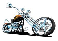 Beställnings- amerikan Chopper Motorcycle, färg stock illustrationer