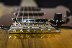 Beställnings- electro gitarr Arkivfoto