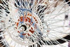 Beställnings- hjul med eker för cykel royaltyfria bilder