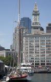 Beställnings- hus från den Boston hamnen Arkivfoton