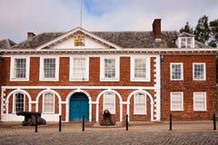 Beställnings- hus i Exeter, England Fotografering för Bildbyråer