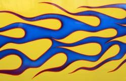 Beställnings- målad bil Royaltyfria Bilder
