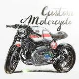 Beställnings- motorcykelbaner Arkivbilder