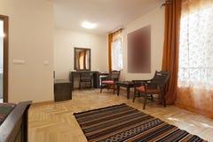 bestämd bädda ned beautifully fin hotellinteriorlokal Fotografering för Bildbyråer