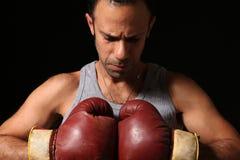 bestämd boxare royaltyfri fotografi