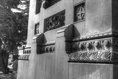 Bestämt gotisk vägg Arkivbild