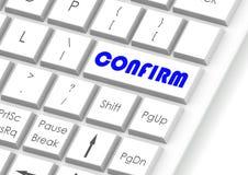Bestätigen Sie und Tastatur Lizenzfreie Stockfotos