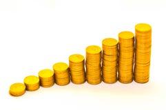 bestående schema för mynt Arkivbilder