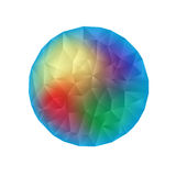 bestående trianglar för abstrakt bakgrund Royaltyfria Foton