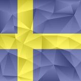 Bestående trianglar för Sverige abstrakt begreppbakgrund Arkivbild